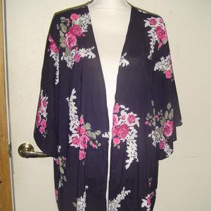 Leo Rosi Diane Floral Kimono Cardigan XL